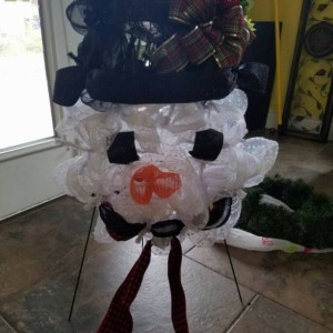 Snowman Wreath Indoor Outdoor Door Decor Christmas Decoration Frosty The Snowman Wreath