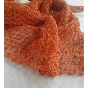 Lover's Knot Wrap in Papaya Orange