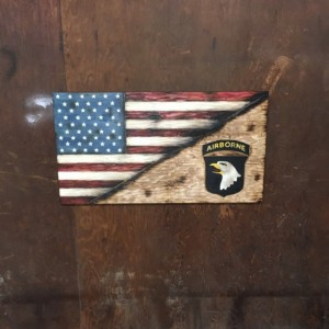 Split American and 101st Airborne Flag