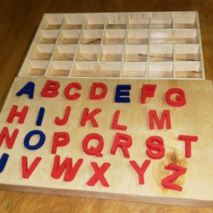 Montessori Movable Alphabet - Lowercase OR Uppercase Letters - MA101