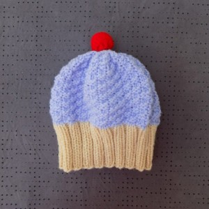 Toddler Knit Cupcake Hat - Lilac