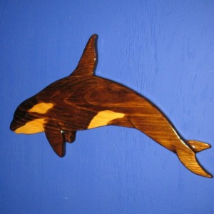 Orca (Killer Whale) Wall Plaque, Wall Hanging
