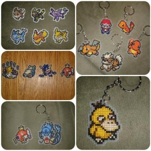 CUSTOM ORDER Pokemon Cross Stitches- Keychains, Zipper Pulls, Magnets, or Ornaments