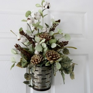 Farmhouse Floral Wall Pocket