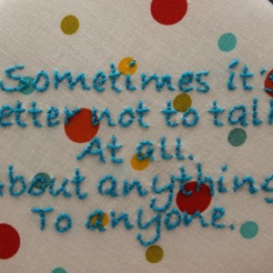 "Breaking Bad Quote ""Sometimes it's better not to talk"" Embroidery Hoop Art. Modern Wall Hanging."
