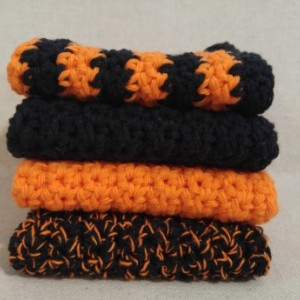 Farmhouse Halloween Decor, Gift for Grandmother, Kitchen Decor, Dish Washing Clothes, Gift for Her, Gift for Mom, Crochet, Fall, Halloween