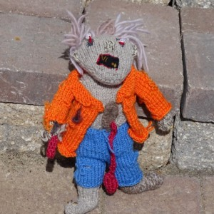 Zombie, Walking Dead Doll, Knit Zombie, Halloween Decoration, Plush Zombie, TWD Fans Gift, All Handmade, Gift for Him, Ready to Ship