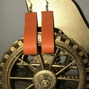 Straight Sassy Leather Earrings