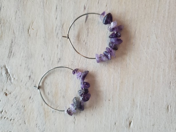 Amethyst Devotionaluxe Hoop Earrings