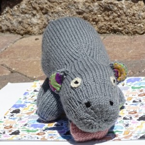 Knitted Hippo Toy, Stuffed Animal Toy, Hand Knitted Hippo, Kids Toy, Stuffed Hippo, Knit Toy, Safari Toy, Plush Hippo, All Handmade, Safari