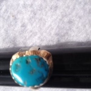 STERLING SILVER W/TURQUOISE RING