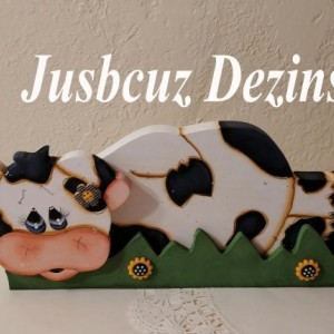 Whimsy Cow Shelf Sitter