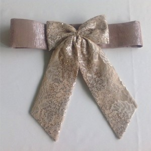 Tan  lace belt bow