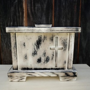 Handmade,Primitive,Distressed,Human Cremation Urn