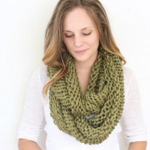 SALE - Infinity Scarf No. 2 in Galveston Green - Cowl Scarf - Circle Scarf - Hooded Scarf - Chunky Scarf - Ready to Ship