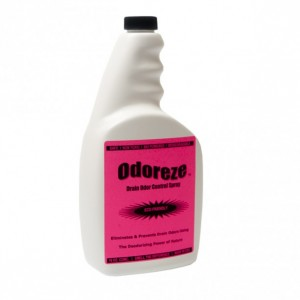 ODOREZE Natural Drain Smell Deodorizer: 32 oz. Concentrate Makes 128 Gallons