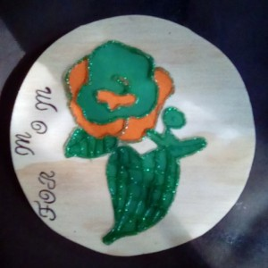 Wood hand made picture