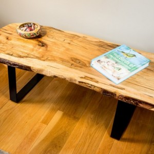 Natural Edge, Live Edge Ambrosia Maple Coffee Table