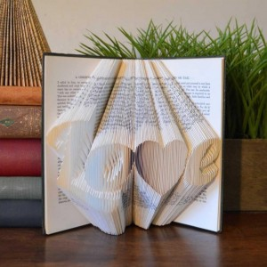 Folded Book - Book Art - Love - Original - Upcycled - Unique