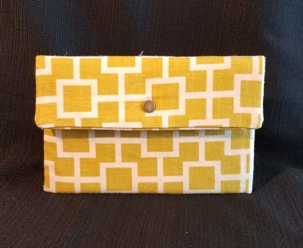Clutch Wallet - Yellow Canvas