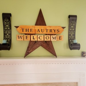 Custom Handmade Welcome Sign w/ Name
