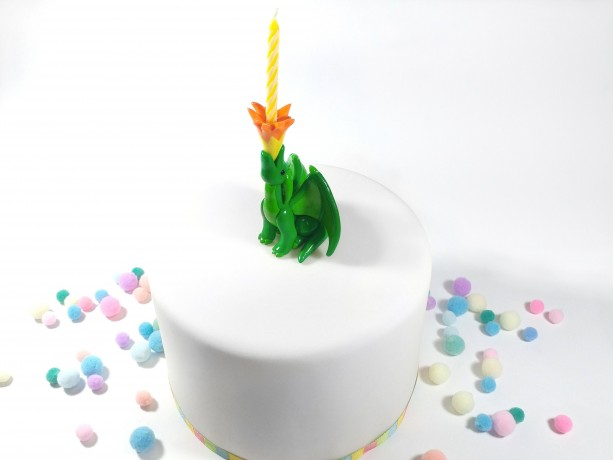 Fire Breathing Dragon Birthday Candle Holder
