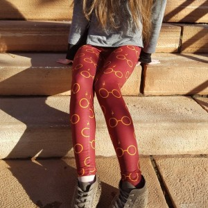 Harry Potter Glasses adult womens teens leggings | Harry Potter leggings | womens Potter leggings | nerdy geeky womens leggings clothes