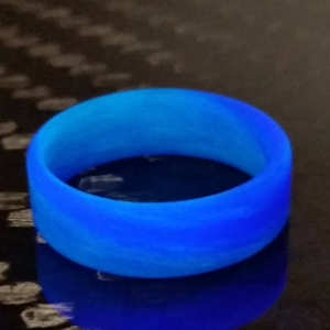 Men's or Women's Purple and Blue Swirl Glow Ring - Handcrafted - Glowing Interior/Exterior - Custom Band widths