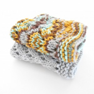 Hand Knit Cotton Dishcloths, Set of Two