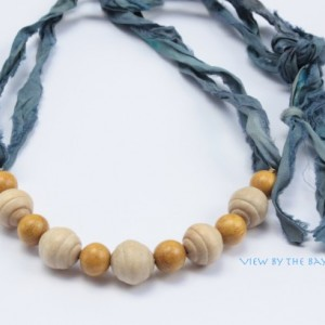 """Beach Necklace, """"View By The Bay"""", Nautical Jewelry"""