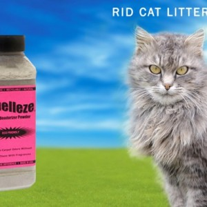 SMELLEZE Natural Cat Litter Smell Remover Deodorizer Additive: 2 lb. Granules Rid Waste Stench