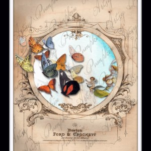 Whimsical Fairy and Butterfly Wall Art