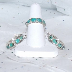 Matching Turquoise Earrings and Ring