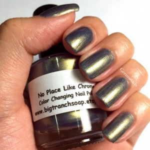 "Nail Polish - Multichrome- Color Shifting - ""No Place Like Chrome"" - Hand Blended - 0.5 oz Full Sized Bottle"