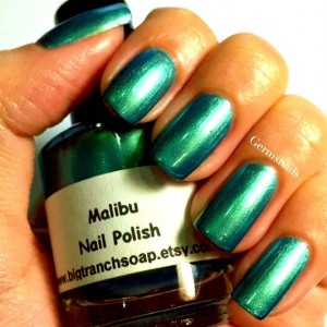 "Multichrome Nail Polish - Color Shifting - ""Malibu"" - Hand Blended - 0.5 oz Full Sized Bottle"