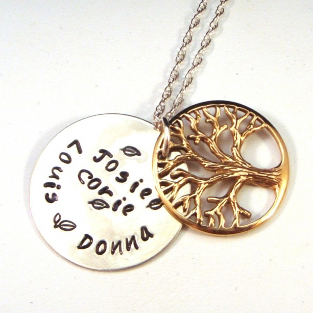 Personalized Tree Of Life Family Necklace Aftcra