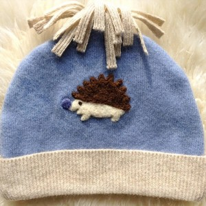 Hedgehog 100% Cashmere Hat - size S, M, or L - Made to Order