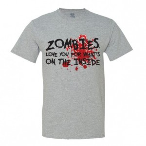 Zombies Love You For What's on the Inside - Men's T-Shirt - Funny - Halloween
