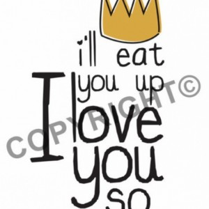 Turquoise Toddler Hood Sweatshirt-I'll eat you up I love you so-Wild Things