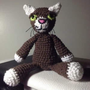 Cool Cat - Crochet Plush Doll - Scent Infused - Aromatherapy