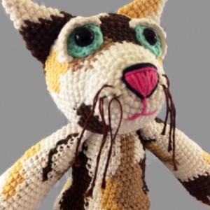 Fat Cat Crochet Plush Doll -  Scent Infused - Aromatherapy