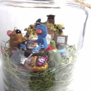 max's place / sweet preserves miniature / recycled glass jar