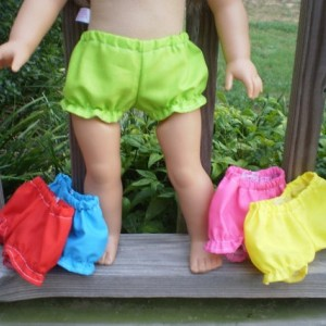 American Girl Doll Underwear, Bitty Baby doll underwear, 5 pairs of underwear, handmade doll clothes, American Girl Doll Clothes, panties