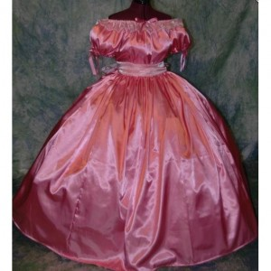 Civil War Reenactment Girls Ball Gown Sizes, Styles and Colors