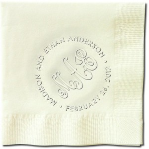 Ageless Wedding Monogram Embossed Napkins  (WRT147)
