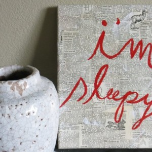I'm Sleep: Textured Wall Art