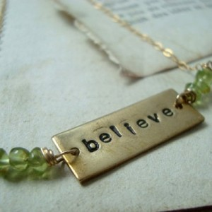 Believe Necklace With Peridot