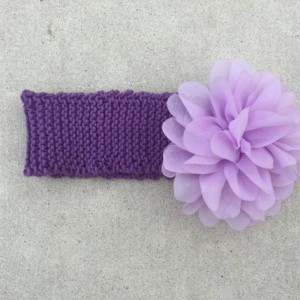 knit headband with flower - baby