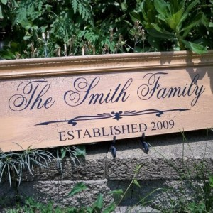 Personalized Family Sign, Family Name Sign, Established Name Sign, Name Sign, Molding SIgn, Distressed SIgn, Antique Sign, Custom Family
