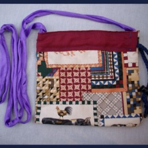 A purse for your country cousin; made of cotton, lined, farm animal print